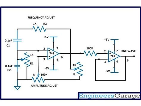 Variable Frequency Sine Wave Generator Electronics