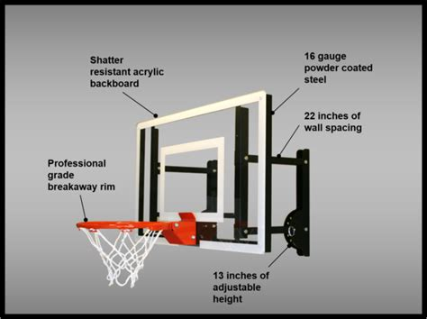 ramgoal adjustable durable indoor mini basketball hoop