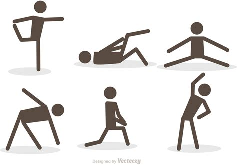 stick figure workout vector icons clipart pack icon lift vecteezy exercise fitness clip lifting work graphics active weight vectors gym