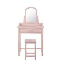 miroir chambre bébé coiffeuse tabouret en bois l 70 cm pastel maisons