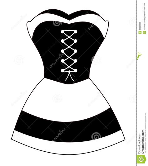 French Maid Stock Vector - Image 48997839
