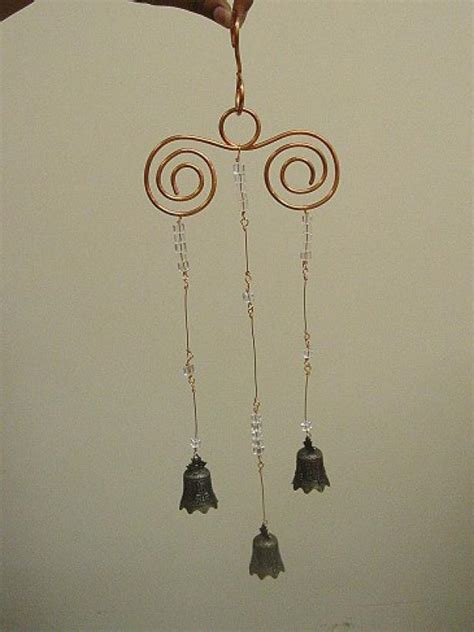 bell bead  wire wind chime diy