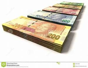 New South African Rand Notes Stock Photo - Image of stack ...
