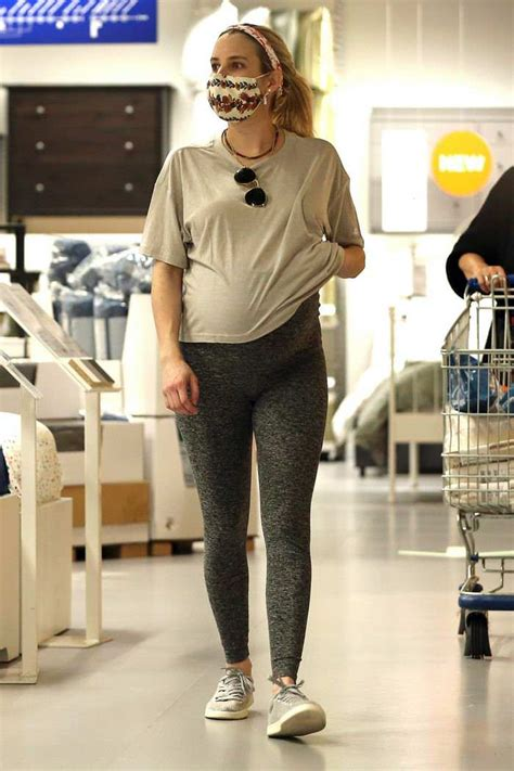 Emma Roberts Hold Her Baby Bump As She Shops In IKEA