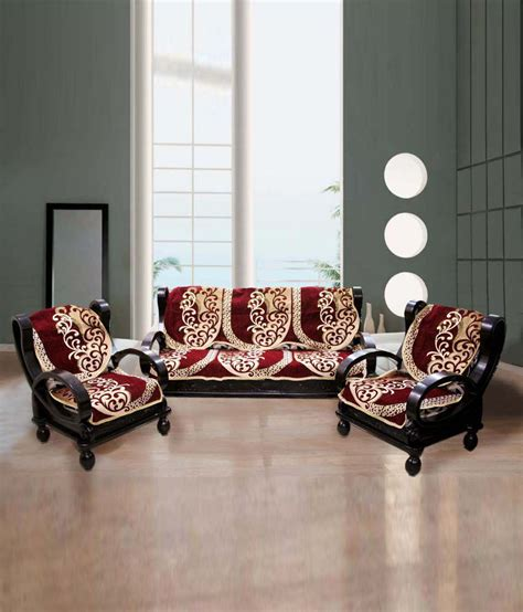 6 Seater Sofa Cover by Fk 5 Seater Polyester Set Of 6 Sofa Cover Set Buy Fk 5