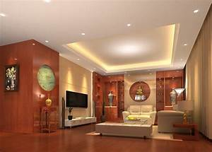 Ceiling and wooden wall design for living room