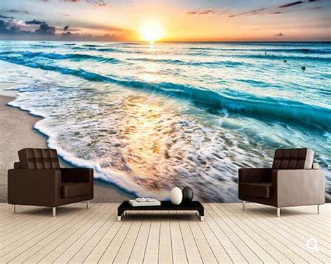 custom landscape wallpaper beautiful sunrise  beach