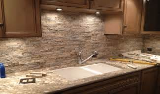 rock kitchen backsplash stacked backsplash kitchens