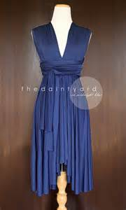 etsy bridesmaid dresses midnight blue bridesmaid convertible infinity by thedaintyard