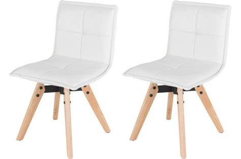 chaises capitonnées lot de 2 chaises scandinaves capitonnées blanche amana