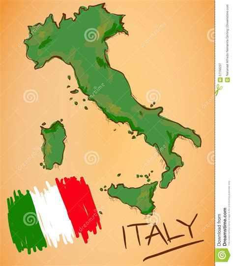 italy map flag stock vector italy map and national flag vector stock vector image ital