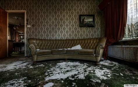 abandoned mansion features upholstered furniture pictures