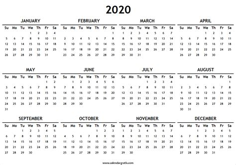 2019 Printable Calendar Template Excel