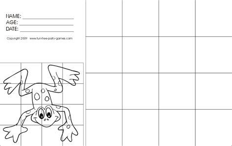 drawing  grids activity cartoon frog  grade