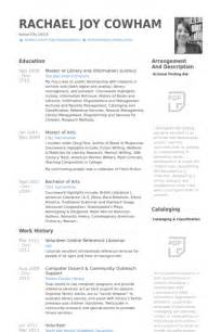 resume objective for librarian librarian resume sles visualcv resume sles database