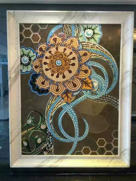 hand  flower tile crystal glass mosaic tile wall