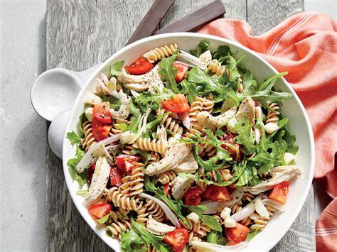 chicken  arugula pasta salad recipe myrecipes