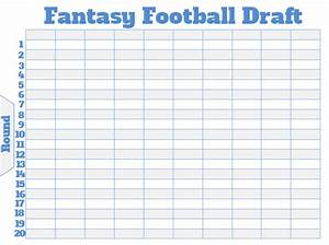 fantasy football draft board creator free printable With fantasy football draft board template