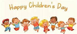 Happy Children's Day Kids Joining Hands Around Globe Clipart
