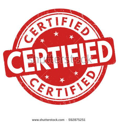 Certified Background Certified St Stock Images Royalty Free Images
