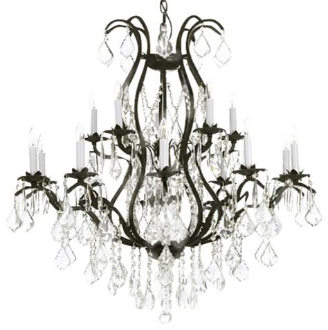 wrought iron chandelier traditional