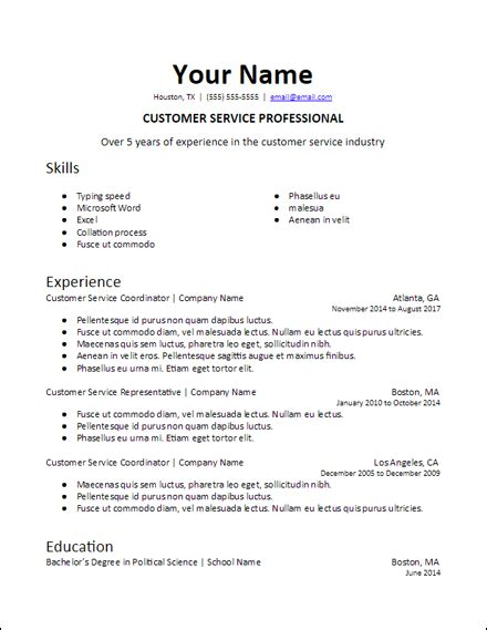 Professional Summary Resume Template by Specific Professional Summary Docs Resume