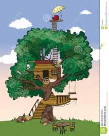 Cartoon House with Tree
