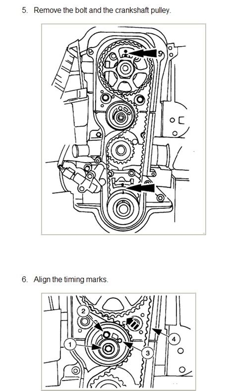 i am replacing a timing belt on a 1998 how do i line up the gears to ensure i the