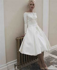 elegant long sleeves satin short wedding dresses 2016 With long sleeve short wedding dresses
