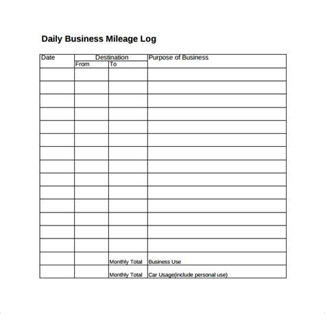 sample travel log templates