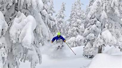 Skiing Powder Desktop Ski Background Wallpapers Screensavers