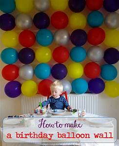 How to make a birthday balloon wall long story short