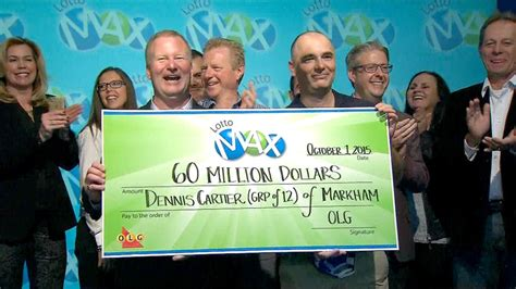 Lotto Max m Jackpot Claimed By Group Of 12 Ontario Co