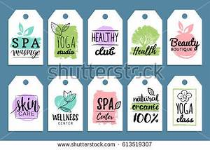 vector health beauty care labels spa stock vector With health and beauty labels