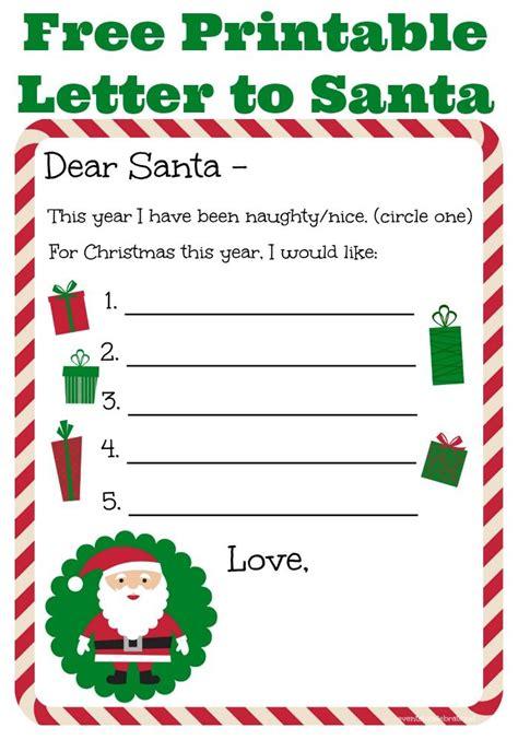 letter  santa  printable   celebrate