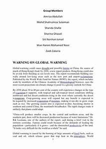 GO on Global warming