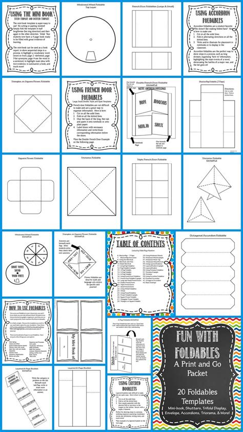 Foldable Fun! 20 Editable Templates Minibook, Flaps