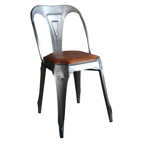 chaise métal 116 chaise metal et cuir lot de 2 chaises cuir et m tal