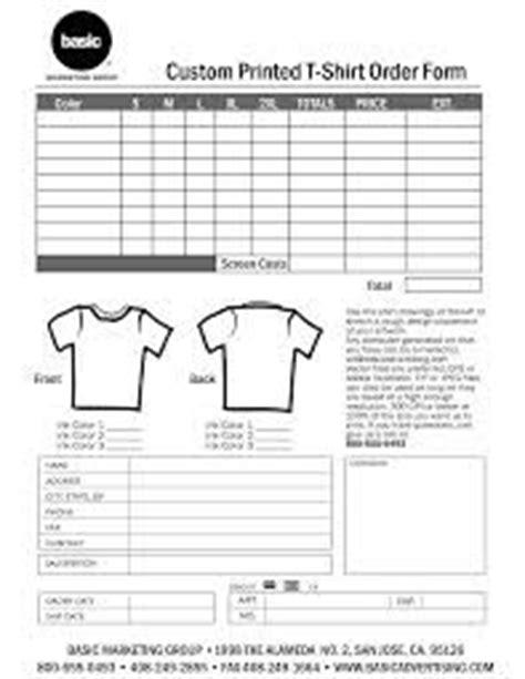 tshirt order form google search screen printing