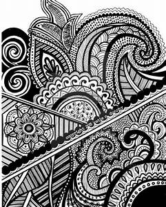 Henna Abstract Line Drawing Print by ViewFromTheEdge on ...