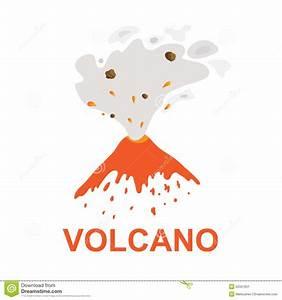 Eruption Of A Volcano  Vector Logo Stock Vector