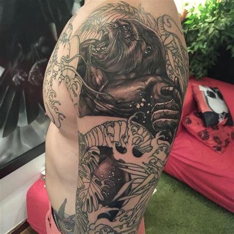 cool gorilla tattoo designs images  ideas