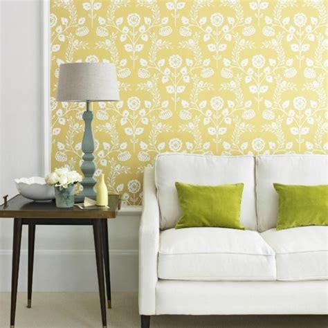 Yellow Living Room Wallpaper by 20 Sumptomous Living Room Wallpaper Designs Rilane
