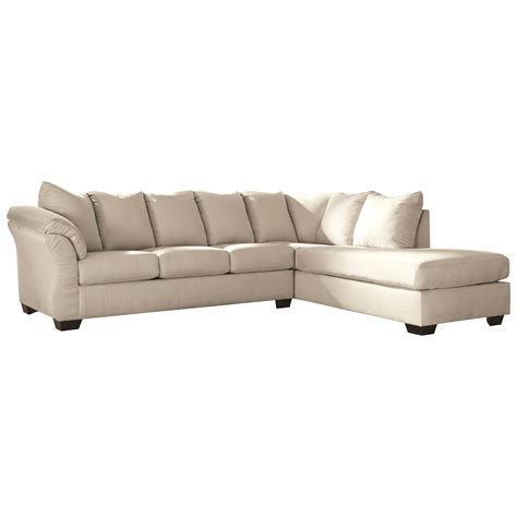 Sectional Sleeper Sofa Chaise by Signature Design By Darcy Contemporary