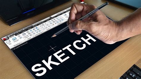 autocad sketch command autocad  hand sketching youtube