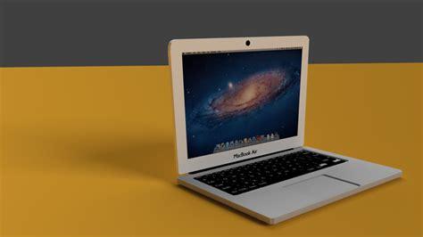 3d apple macbook air cgtrader