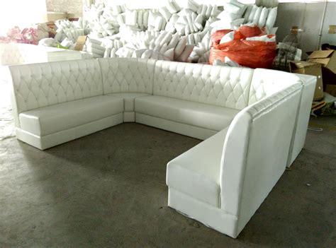 white vinyl sectional sofa china customized u shape restaurant sofa booth seating in