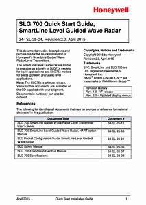 Slg 700 Quick Start Guide  Smartline Level Guided Wave