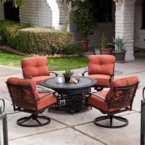 patio furniture fire pit table set patio furniture sets with propane fire pit home citizen