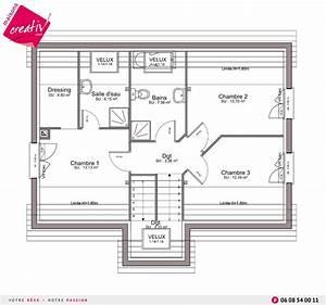 maison a etage entree a demi niveau de maisons creativ marieme With plan maison demi niveau 0 maison en demi niveaux detail du plan de maison en demi